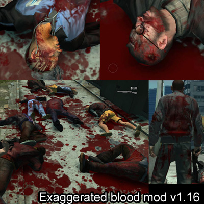GTA IV Exaggerated Blood mod v1.16