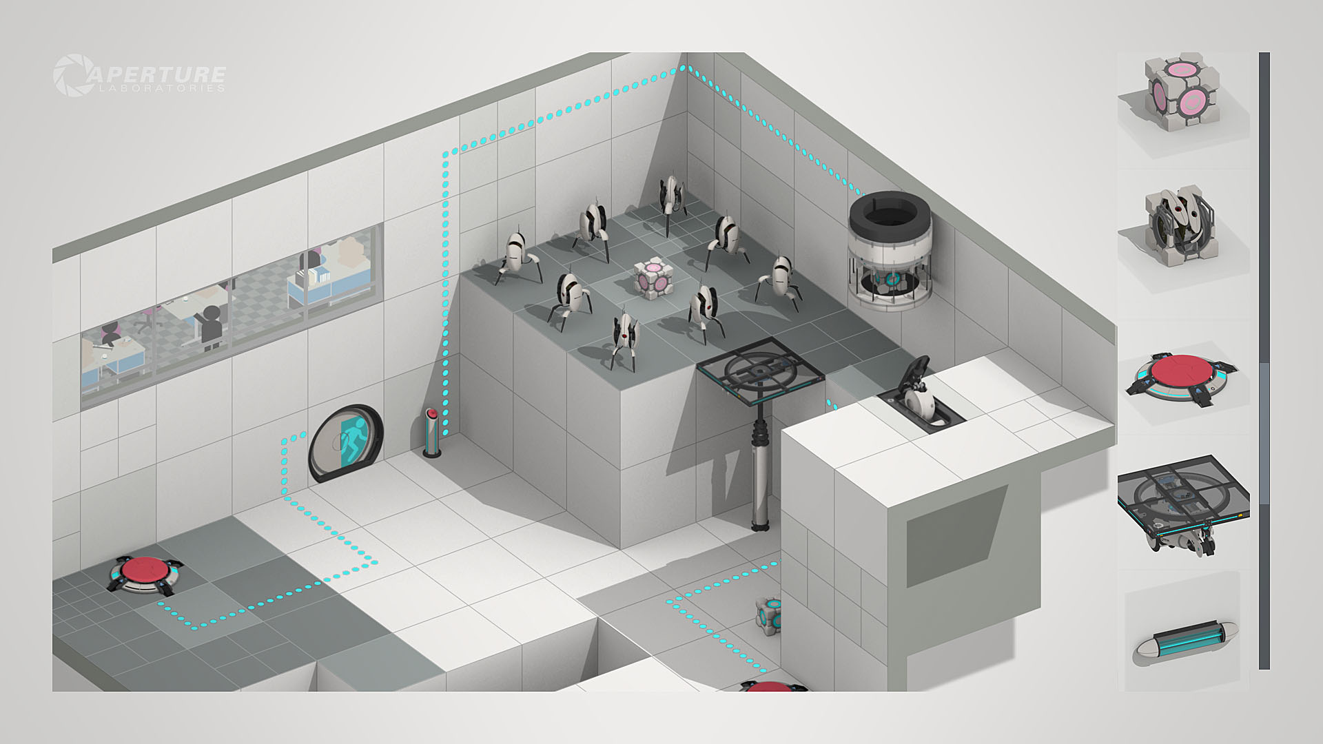 Portal 2 Puzzle Creator screenshot map editor