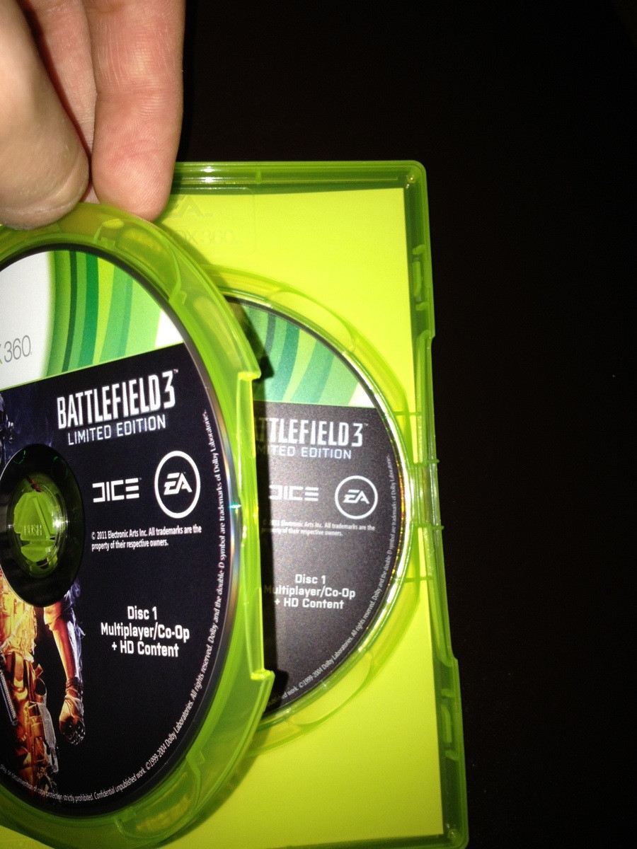 Battlefield 3 Xbox 360 two disc 1's