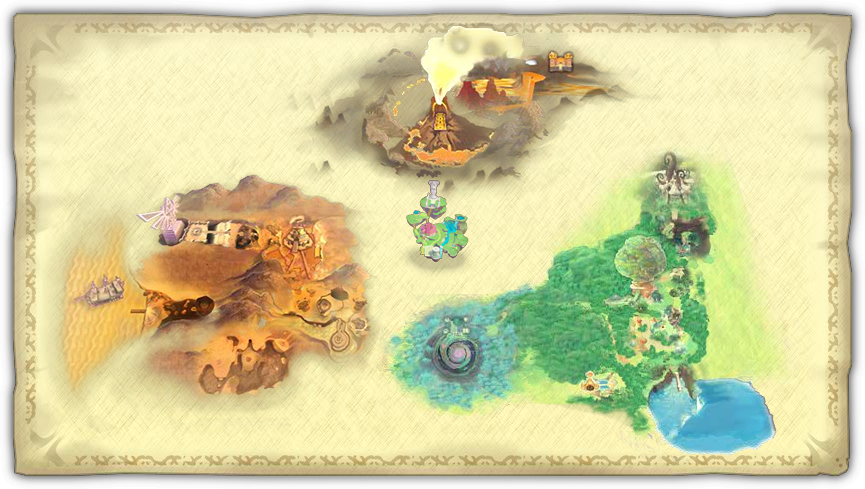 Zelda: Skyward Sword Map