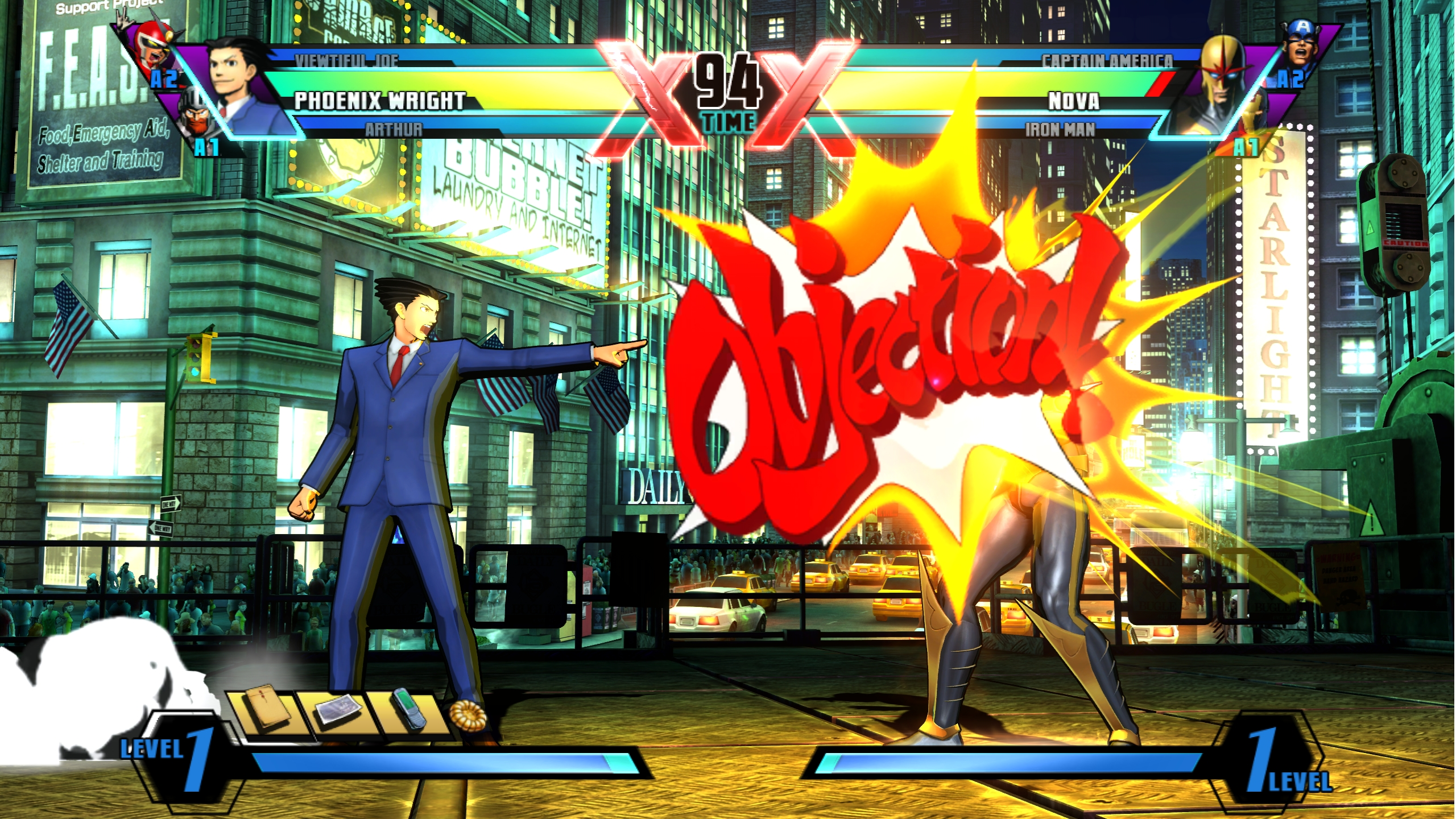 Phoenix Wright Ultimate Marvel vs Capcom 3