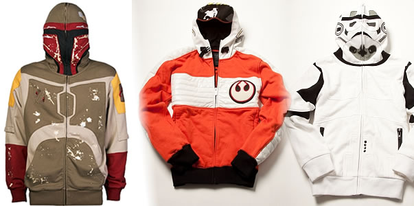 Star Wars Hoodies Boba Fett X-Wing Pilot Stormtrooper