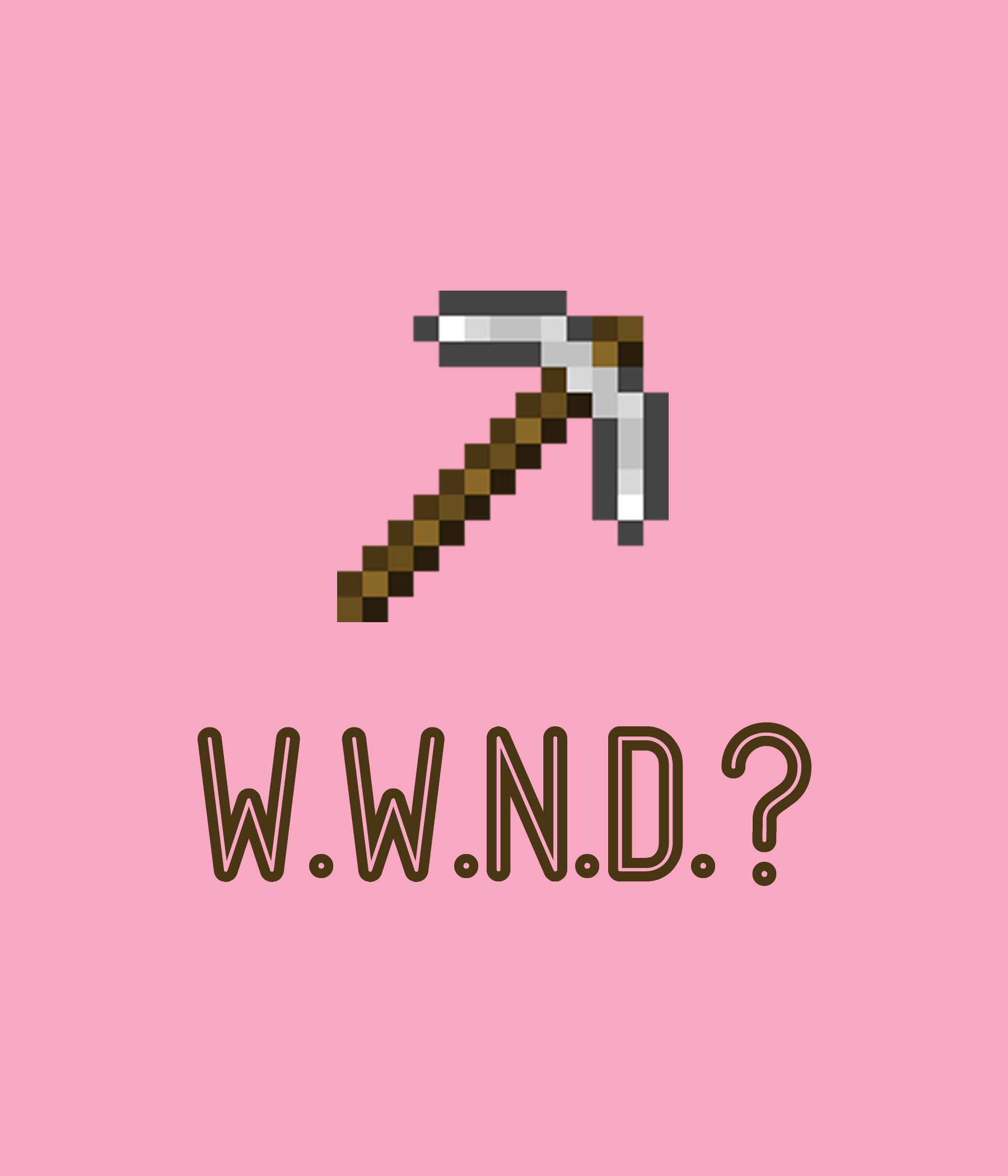 WWND what would notch do minecraft shirt