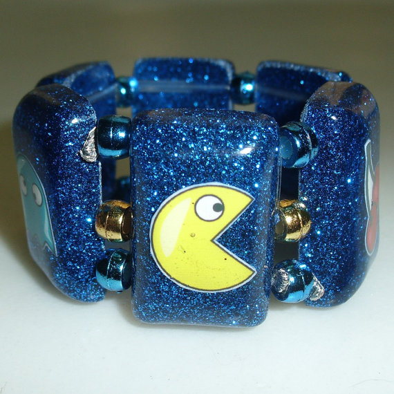 etsy.com pac-man bracelet