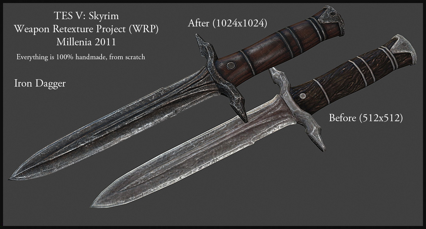 Weapon Retexture Project Skyrim Mod