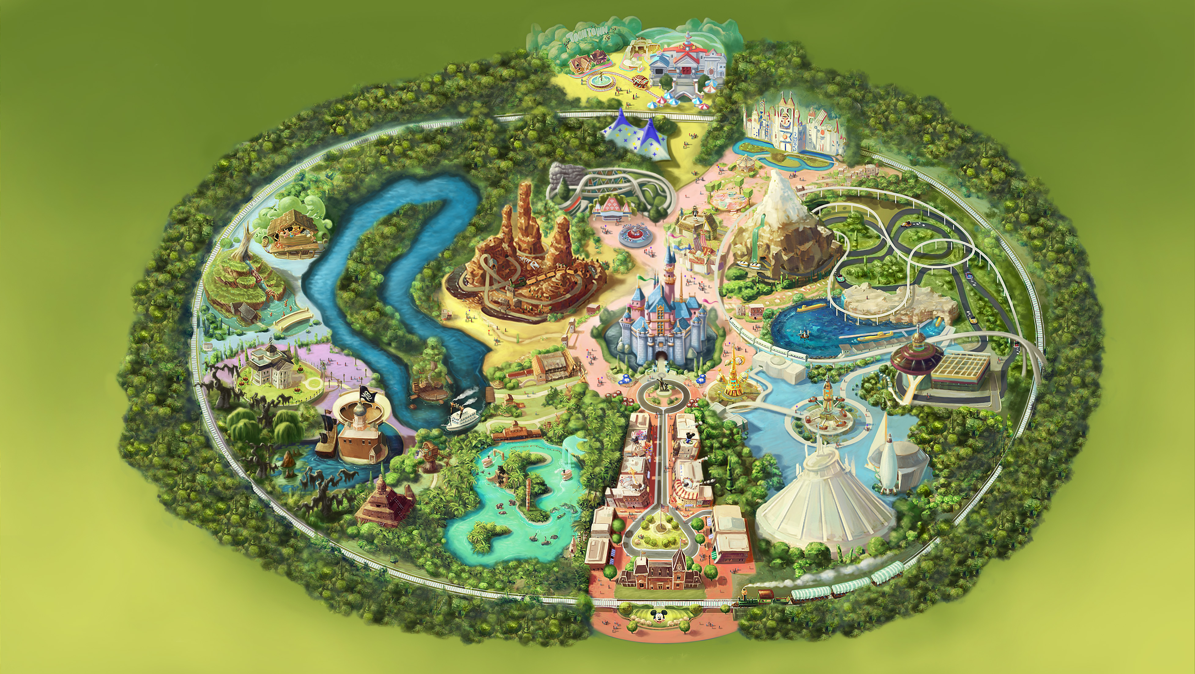 Kinect: Disneyland Adventures park map