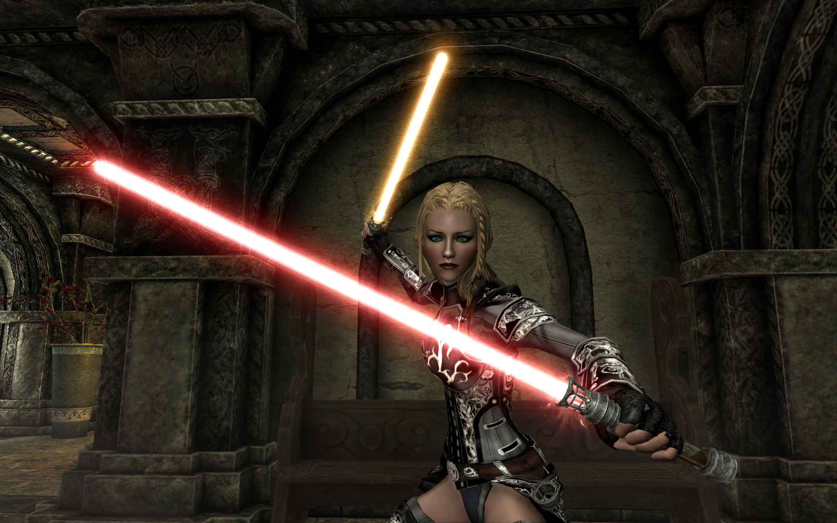 lightsabers skyrim mod