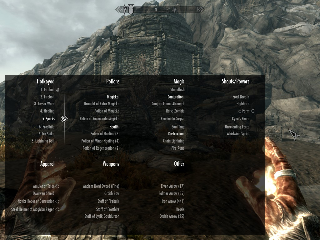 Categorized Favorites Menu Skyrim Mod