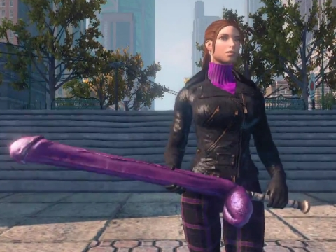 saints row the third purple dildo