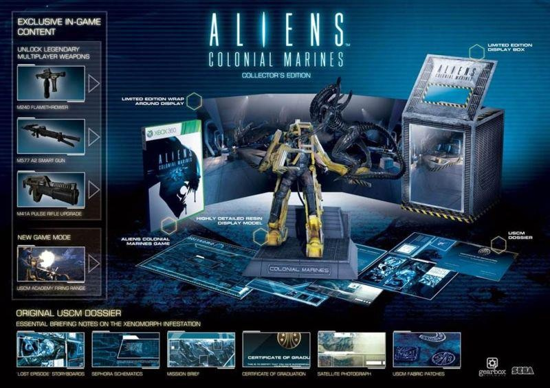Aliens: Colonial Marines Collector's Edition contents