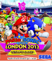 Mario &amp; Sonic at the London 2012 Olympic Games (3DS) Boxart