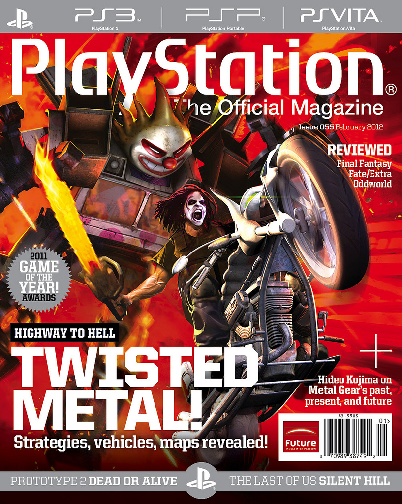 Twisted Metal on the cover of PTOM