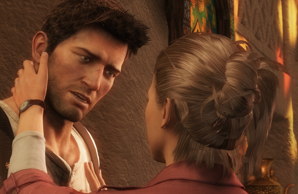 Nathan Drake and Elena Fisher