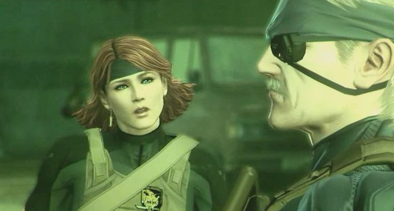 Solid Snake and Meryl Silverburgh