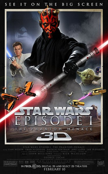 Star Wars Episode I The Phantom Menace 3D poster