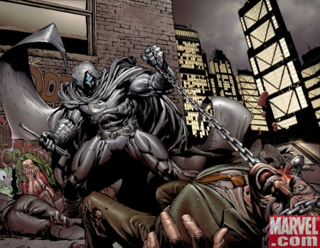 Moon Knight fighting criminals