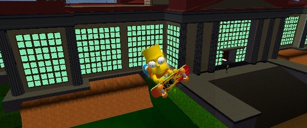 The Simpsons Skateboarding - Feature
