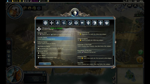 Civilization V Gods and Kings religion