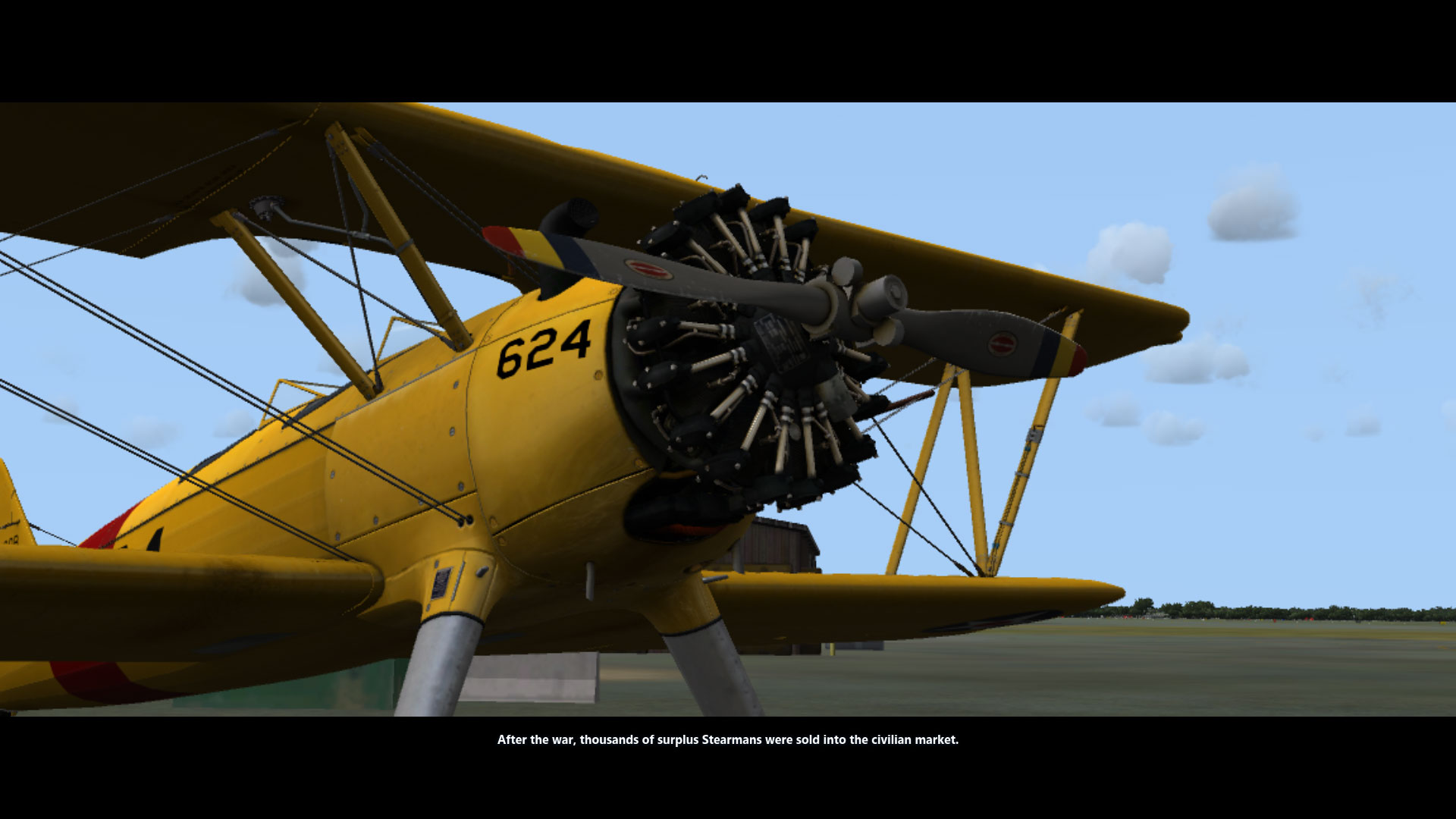 Biplane close - Microsoft Flight