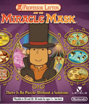 Professor Layton and the Miracle Mask Boxart