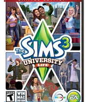 The Sims 3 University Life Boxart