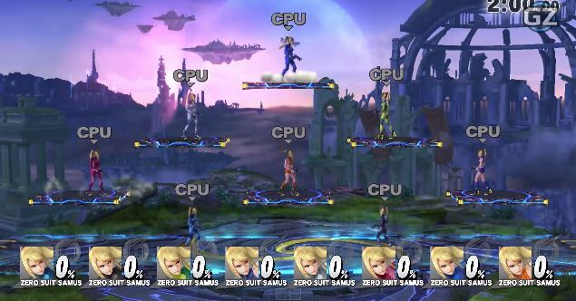 Zero Suit Samus 8 Player Smash | Super Smash Bros. Wii U