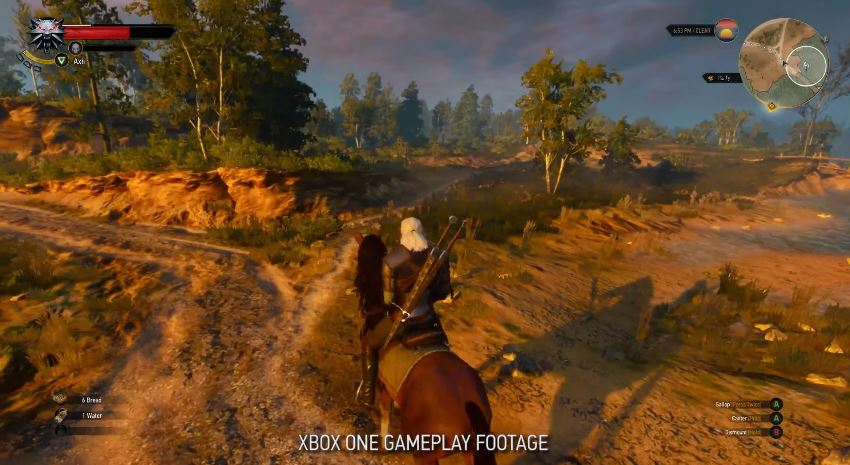 The Witcher 3: Wild Hunt   Xbox One Gameplay Footage