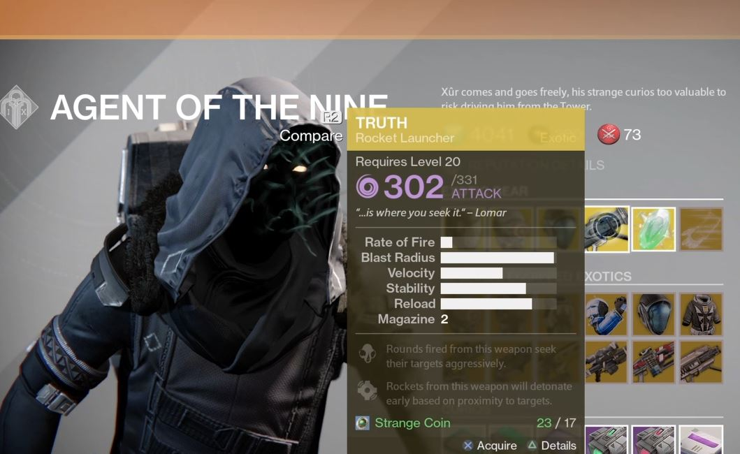 Destiny | Xur location and items 5/15/15