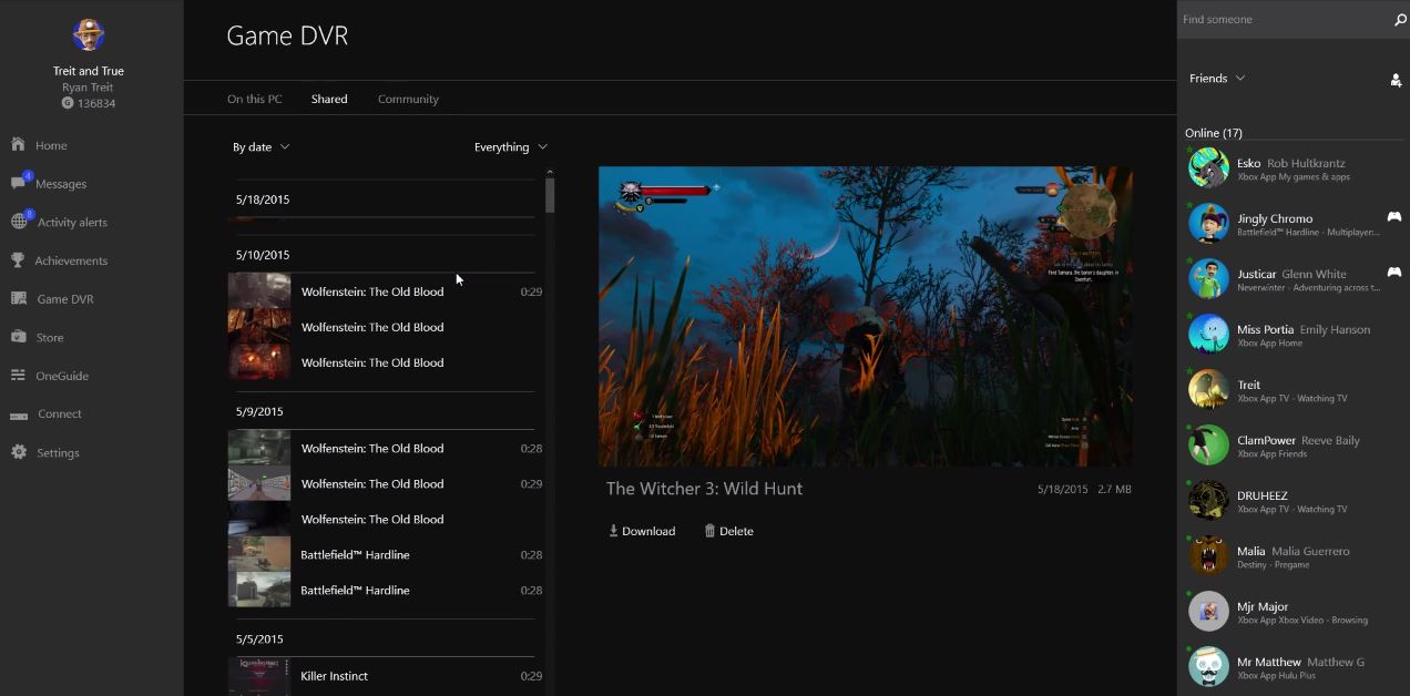 Xbox One | Xbox App on Windows 10 Update: 05/21/2015