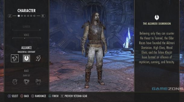 The Elder Scrolls Online | Creating a Character on the console version