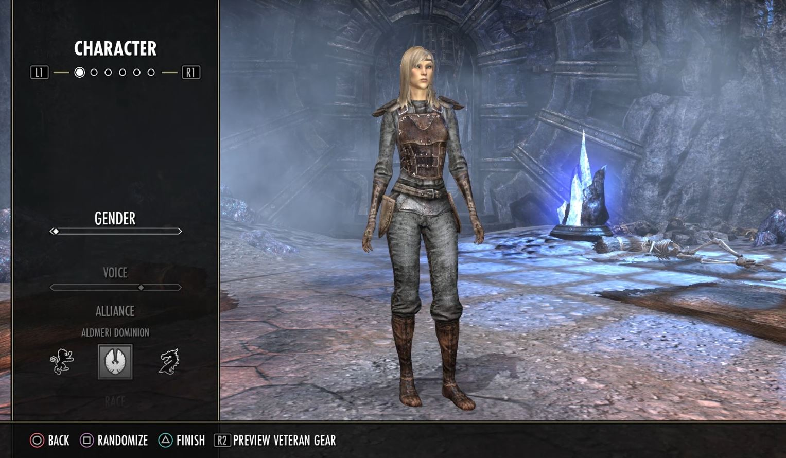 Elder Scrolls Online: Tamriel Unlimited | Creating a female High Elf character on PS4