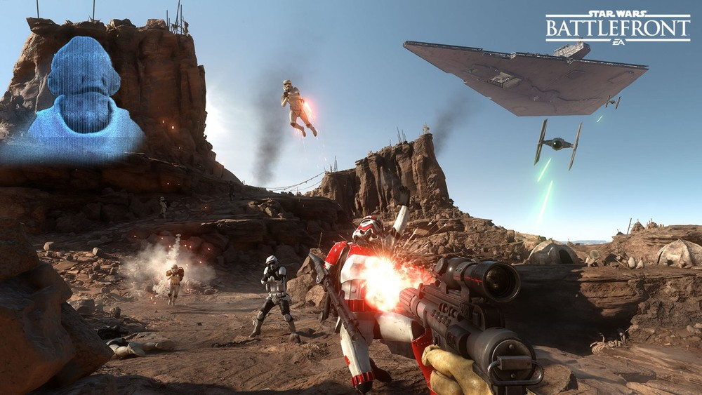 Star Wars Battlefront | Survival on Tatooine Beta Gameplay