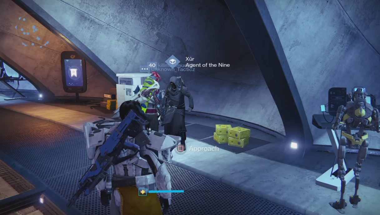Destiny | Xur Location and Exotic Items (10/9-10/10/15)