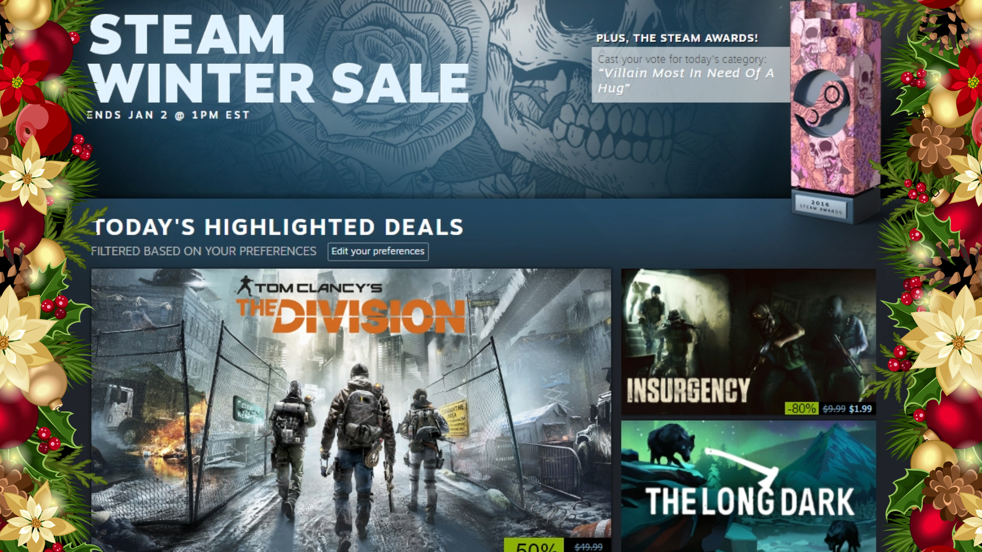 Steam Winter Sale 2016 now live, here are the highlights
