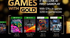 February 2017's Games with Gold titles for Xbox One, 360 Announced