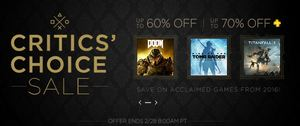 PS4 games discounted in Critics Choice Sale