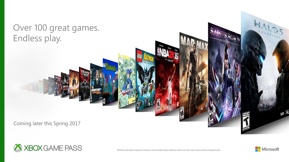 Microsoft announces 'Xbox Game Pass' subscription service for Xbox One; To release Spring